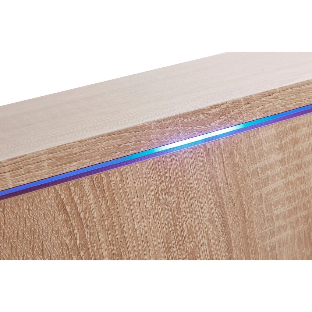priess Nachtkommode, mit LED-Beleuchtung und Push-to-open