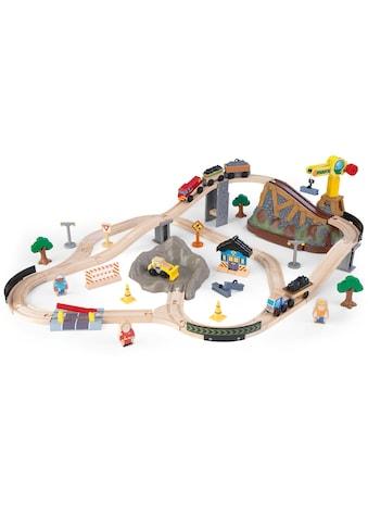 KidKraft® Spielzeug-Eisenbahn »Eisenbahnset Baustelle mit Aufbewahrungsbox« kaufen