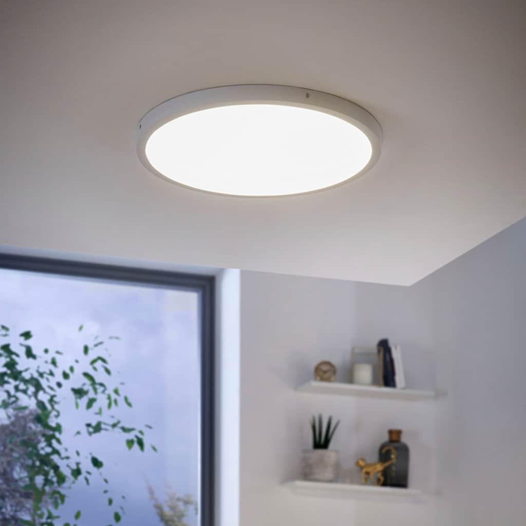 EGLO Aufbauleuchte »FUEVA 1«, LED-Board, 1 St., Warmweiß, schlankes Design, nur 3 cm hoch, Durchm. 50 cm