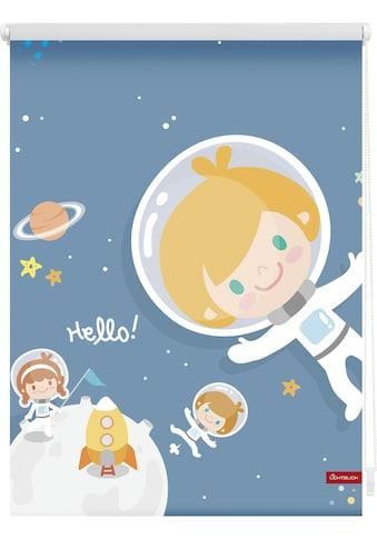 LICHTBLICK ORIGINAL Seitenzugrollo »Klemmfix Motiv Astronaut«, Lichtschutz, ohne... kaufen