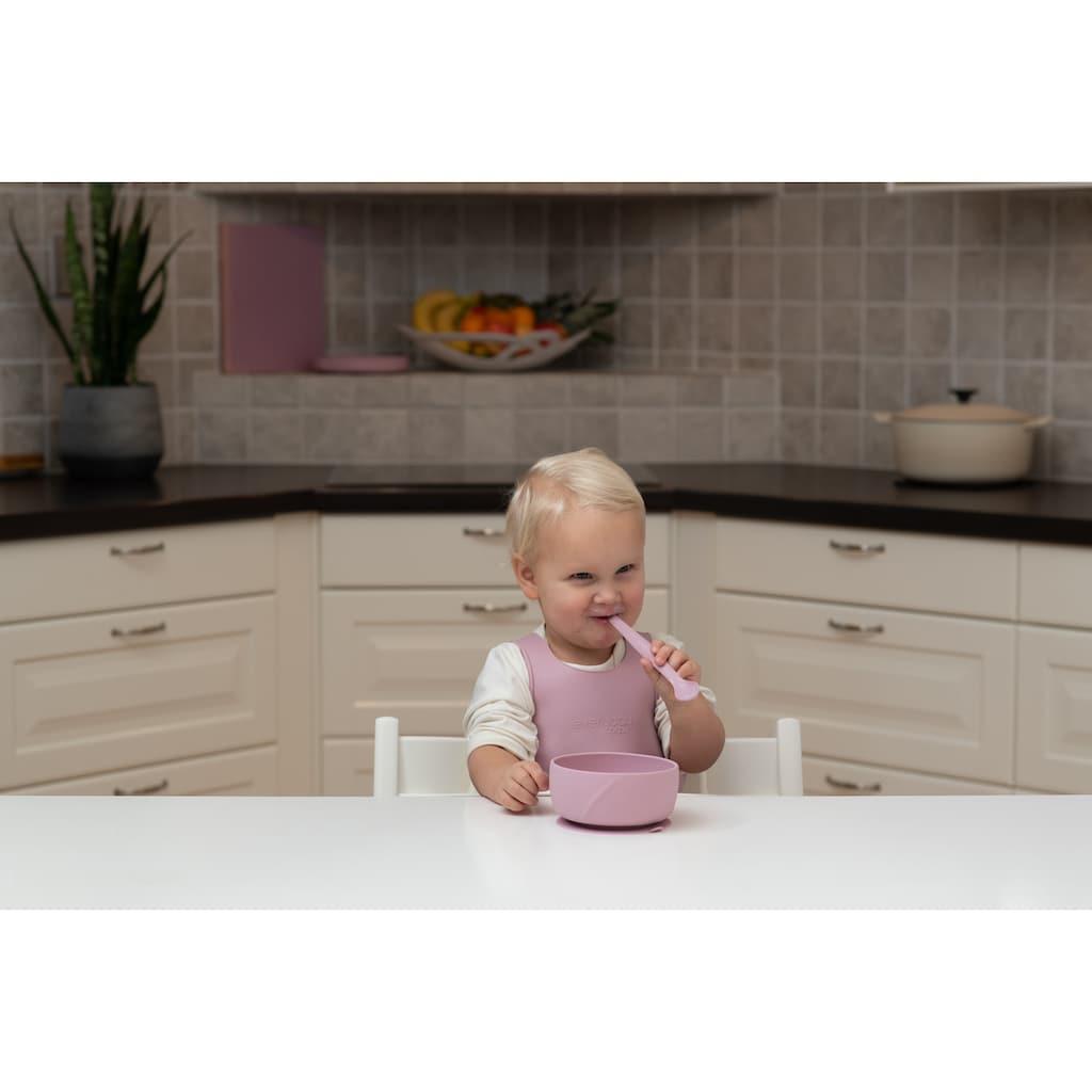 everyday baby Kindergeschirr-Set »Everyday Baby, Esslern Set mit Lätzchen«, (4 tlg.), Made in Europe