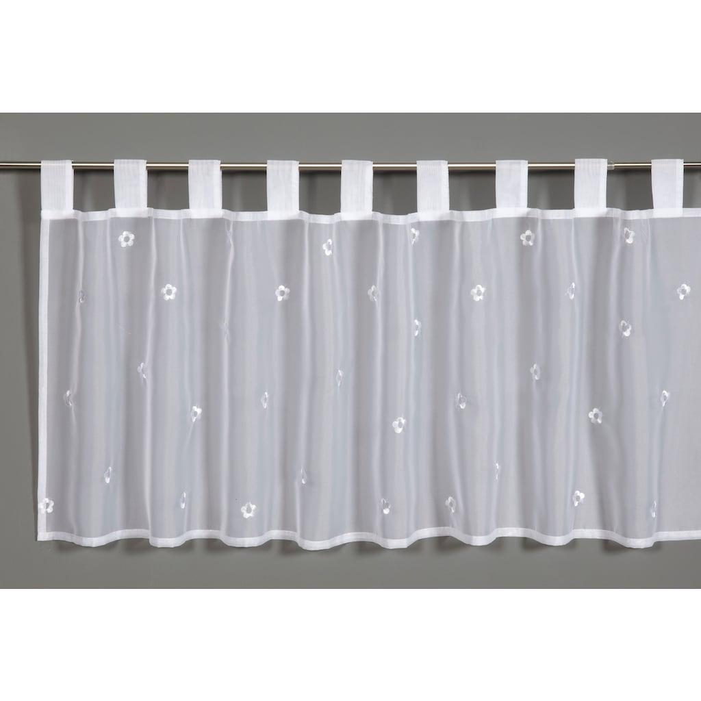 GARDINIA Scheibengardine »Voile Stickerei Streublumen«, Vorhang