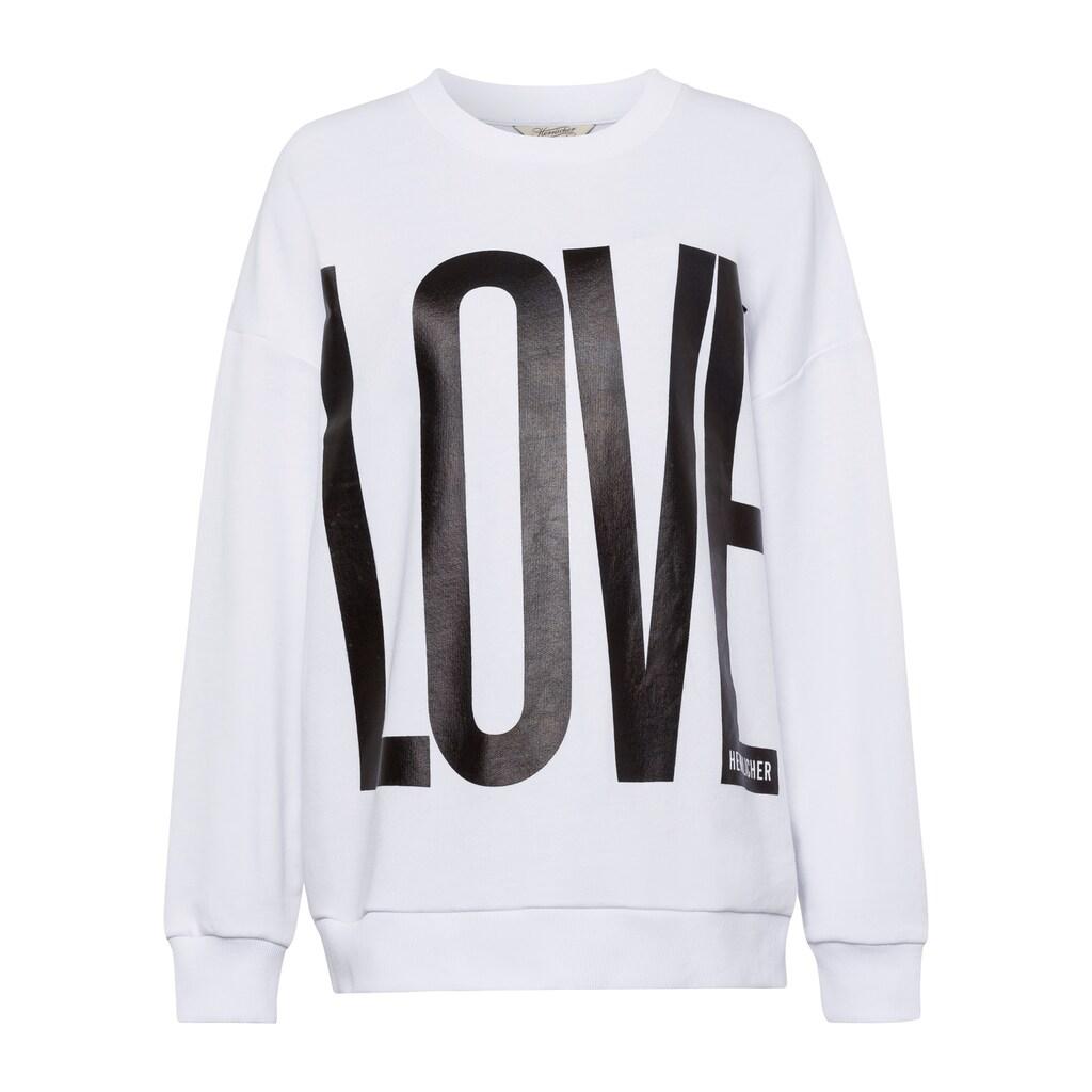 """Herrlicher Sweatshirt »CALIXTA«, mit """"LOVE"""" Statement Print"""