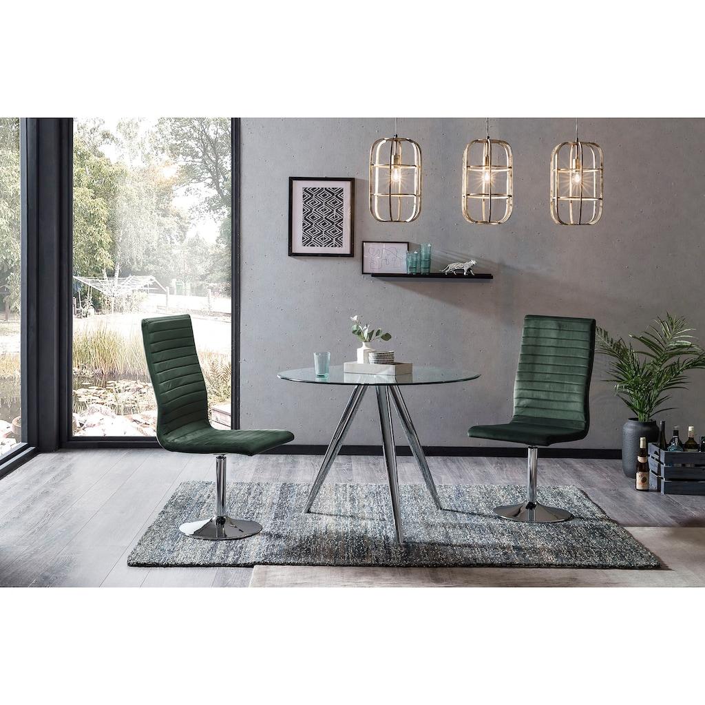 SalesFever Esstisch, mit modernem Chrom Gestell