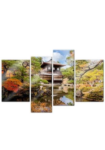 Wall-Art Mehrteilige Bilder »Japanischer Tempel (4-teilig)«, (Set, 4 St.) kaufen