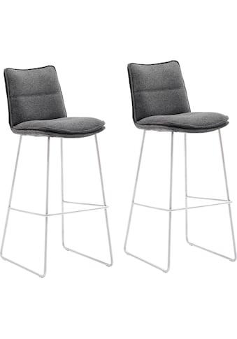 MCA furniture Barhocker »Hampton«, Barstuhl 180°drehbar mit Nivellierung, Chenille... kaufen