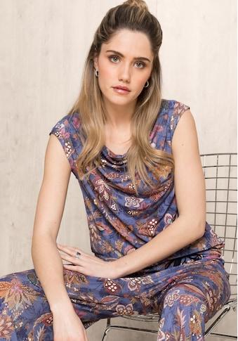 bianca Shirttop »TILA«, mit leichtem Wasserfallausschnitt im Allover-Print kaufen