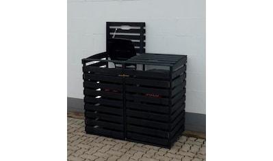 promadino Mülltonnenbox, für 2x240 l aus Holz, BxTxH: 136x92x122 cm kaufen