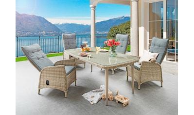 DESTINY Sitzgruppe »Correda«, 13 - tlg., 4 Hochlehner, Tisch 178x98cm, Alu/Polyrattan kaufen